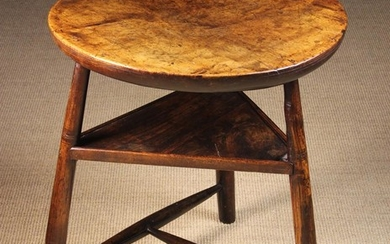 A Rare 18th Century Cricket Table of rich colour & patination. The single piece top, possibly sycamo