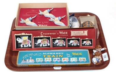 A boxed Wade Alphabet train; with six other boxed sets...