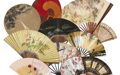 A collection of Japanese fans, late 19th-early...