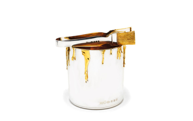 A novelty silver and silver-gilt ice bucket