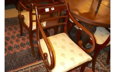 A set of eight Regency style mahogany dining chairs...