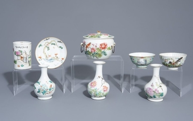 A varied collection of Chinese qianjiang cai and...