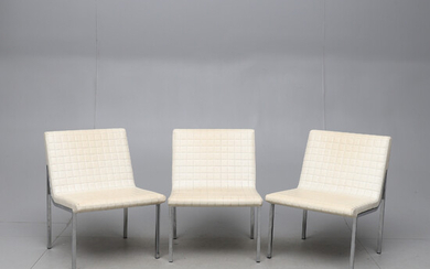ARMCHAIRS, 3 pcs, Finnart AB, Stockholm, second half of the 20th century.