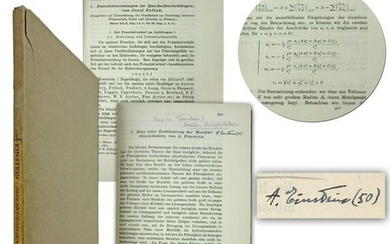 Albert Einstein Signed Copy of 2 Important Works Incl.