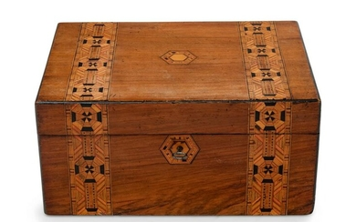 An Anglo-Colonial Parquetry Document Box