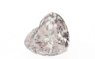 An unmounted heart-shaped diamond weighing 0.33 ct. Colour Natural Light Pink.