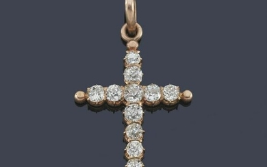 Antique-cut diamond cross of approx. 0.96 ct in total