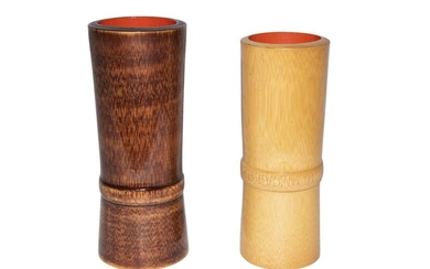 Brush cup made of bamboo | Pinselbecher aus Bambus