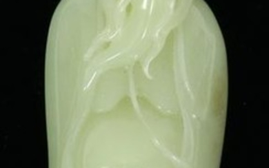 "CHINESE JADE CARVING, W 1.5"", L 4"", LAO BAI XING"