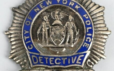 CITY OF NEW YORK POLICE DETECTIVE BADGE #8