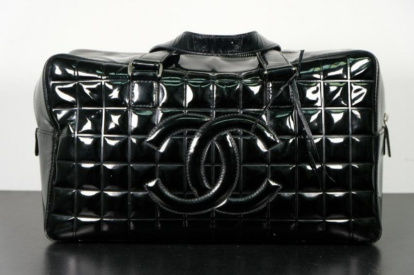Chanel Quilted Patent Leather Box Bag