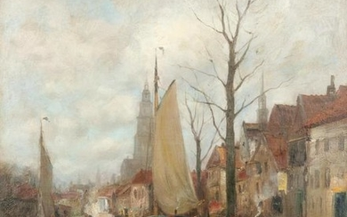 Charles Gruppe (American, 1860 - 1940) An Old Delft,