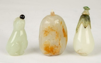 Chinese Carved Jade Snuff Bottles