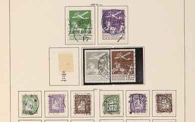 Denmark. 1854-1997. Collection in older Schaubek-album with fine used material incl. better Letterpress and other....