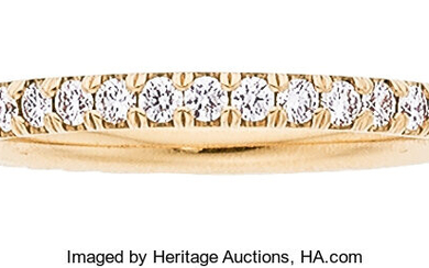 Diamond, Rose Gold Eternity Band The ring features full-cut...