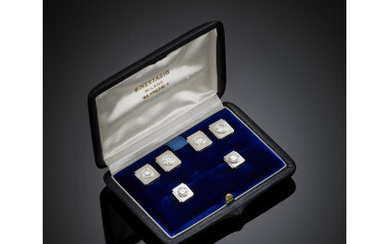 Diamond platinum and gold dinner jacket set, diamonds in all...