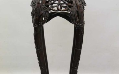 Early 20th century Chinese hardwood urn stand
