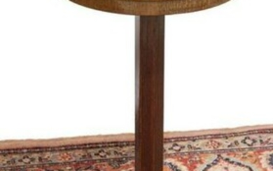 FRENCH LEATHER-TOP MAHOGANY STAND
