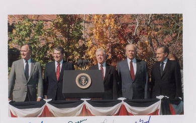 Five Presidents Signed photo