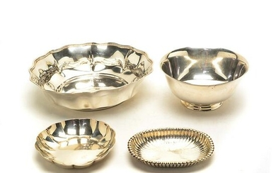 Four Sterling Silver Bowls Including Tiffany and