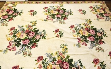 French Aubusson Style Needlepoint Tapestry Carpet