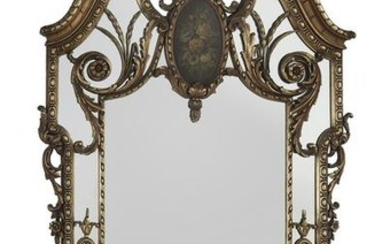 Giltwood Mirror of Baroque Inspiration