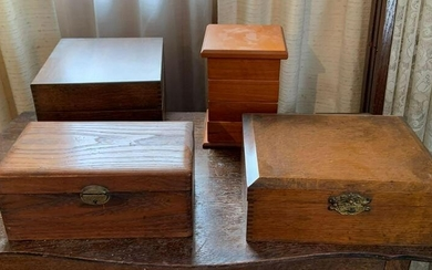Group of 3 : Vintage and Modern Wooden Boxes