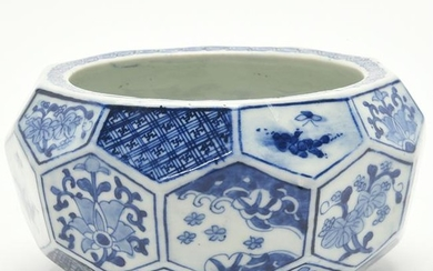 Japanese Style Blue and White Porcelain Bowl