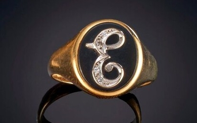 LOT OF 60'S STYLE RINGS, in yellow gold. Price: 150,00 Euros. (24.958 Ptas.)