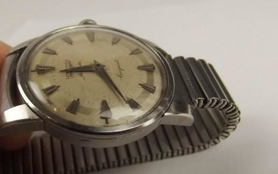 Longines Conquest Stainless Steel Automatic Wrist Watch