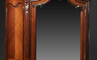 Louis XV Style Carved Mahogany Bombe Armoire, c. 1890