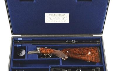 (M) KARL HAUPTMANN DOUBLE RIFLE IN 9.3X74R WITH