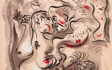 MASSON (André). Erotic drawings.