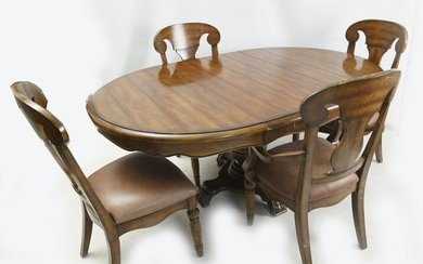 Mahogany dining Room set leaf and six chairs