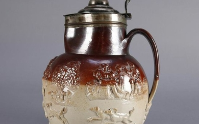 Oversized Royal Doulton Lambeth Covered Pitcher