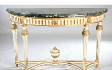 PAIR OF LARGE CONSOLES LOUIS XVI in cream...