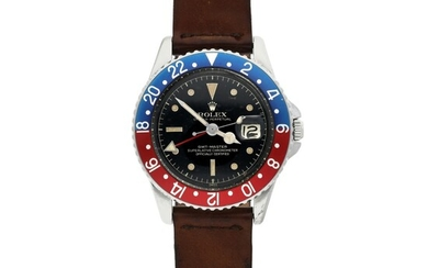 ROLEX | REF 1675 GMT-MASTER, A STAINLESS STEEL AUTOMATIC DUAL TIME WRISTWATCH WITH DATE CIRCA 1960