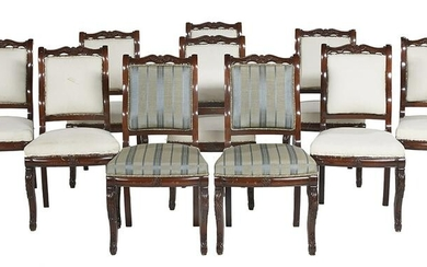 Restauration-Style Mahogany Dining Chairs