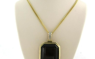 Retro Modern necklace with smoky quartz with modern