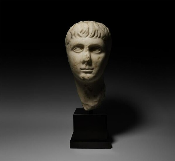 Roman Marble Head of Gaius Caesar