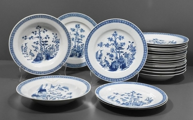 Series of 23 18th century Chinese porcelain plates...