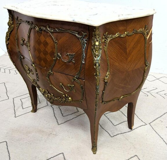 Spanish Made French Style Commode Dresser Chest. Brass