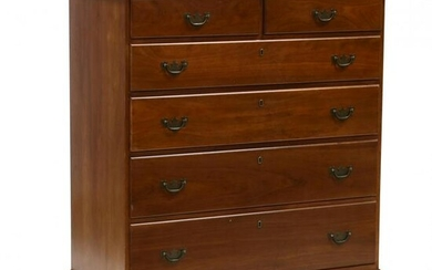 Suter's, Federal Style Cherry Chest of Drawers