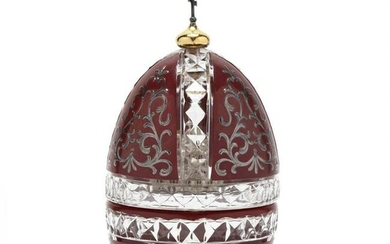 """Theo Fabergé """"St. Vladimir"""" Crystal & Sterling Silver"""