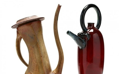 Two Contemporary Pottery Teapots