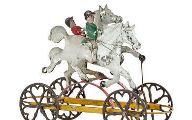 Two Horse Tin Pull Toy