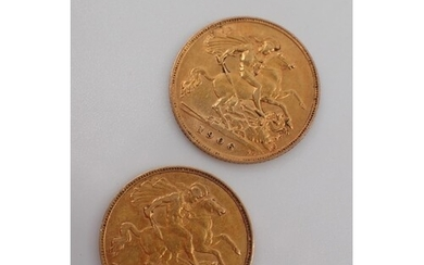 Two gold half sovereigns dated 1892 & 1906