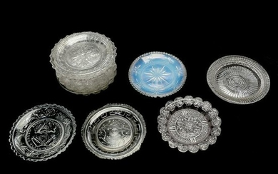 11 American Lacy and EAPG Cup Plates, Including Lee /