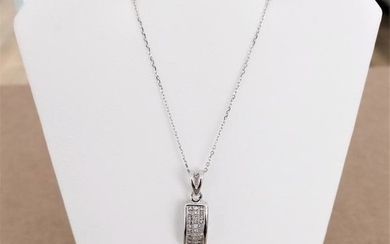 18 kt. White gold - Necklace with pendant - 0.59 ct Diamond