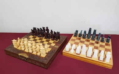 2 Hard Stone Chess Sets